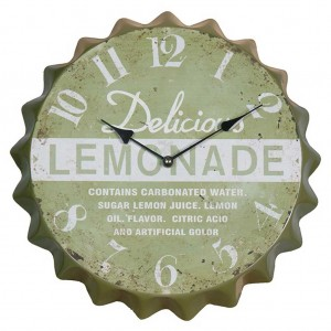 Lemonade bottle lid wall clock