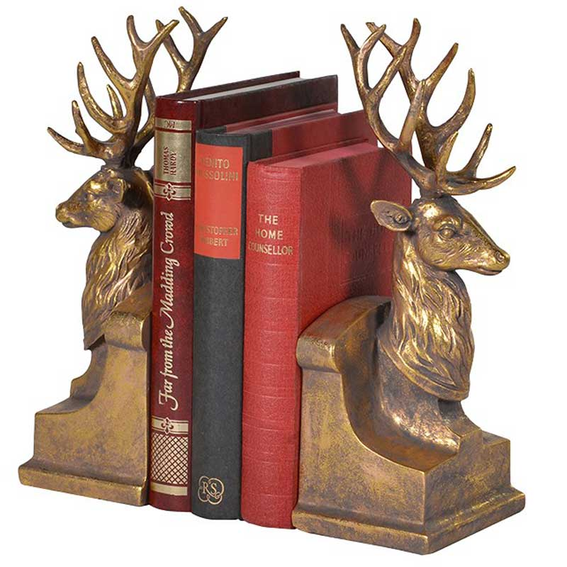 Stag bookends Hydes Interiors : Stag bookends from hydesfurniture.com size 800 x 800 jpeg 69kB
