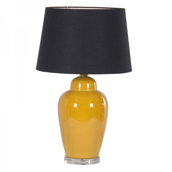 Yellow ceramic lamp with black shade Hydes Interiors : JNC114 600x600 from hydesfurniture.com size 600 x 600 jpeg 26kB