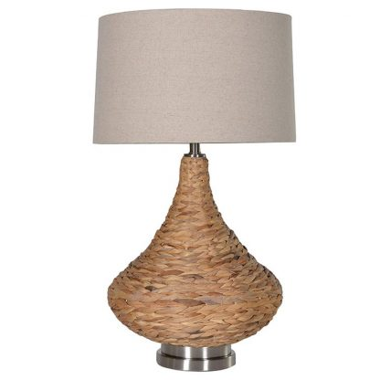 Seagrass table lamp