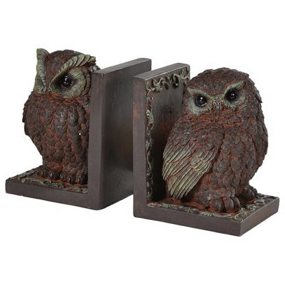 Decorative owl bookends