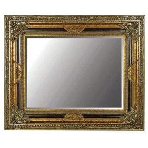 Gilt rose & swags mirror