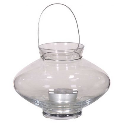 Glass lantern tea light holder