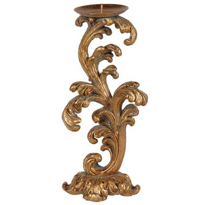 Gold leaf gilt candlestick