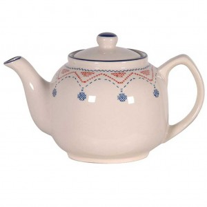 Hand painted retro teapot