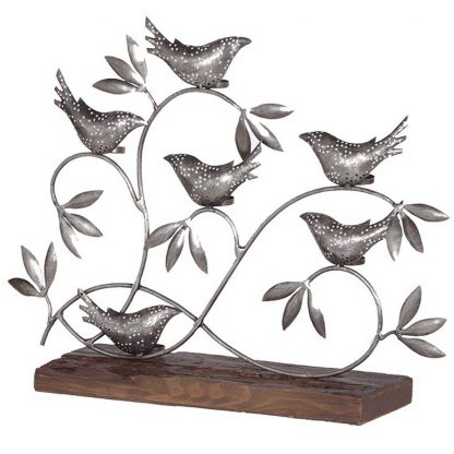 Metal birds tea light holder