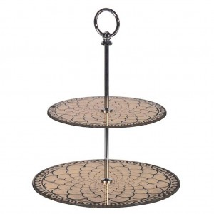 2 tier decorative cake stand