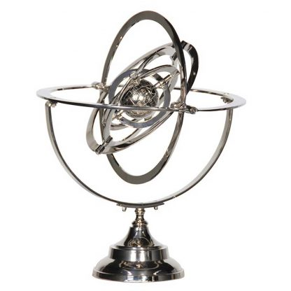 Nickle armillary sphere globe
