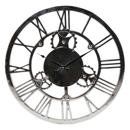 Nickle Roman numerals round wall clock