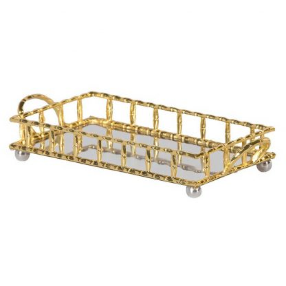 Golden bamboo tray