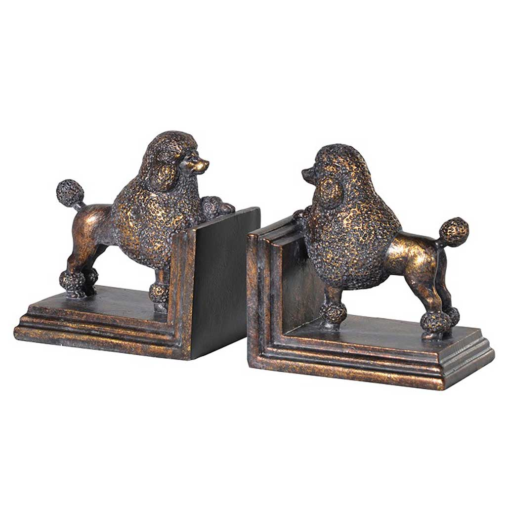 Poodle dog bookends
