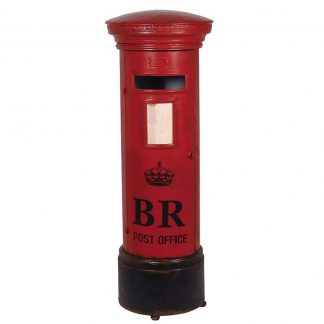 Red pillar box shelf unit