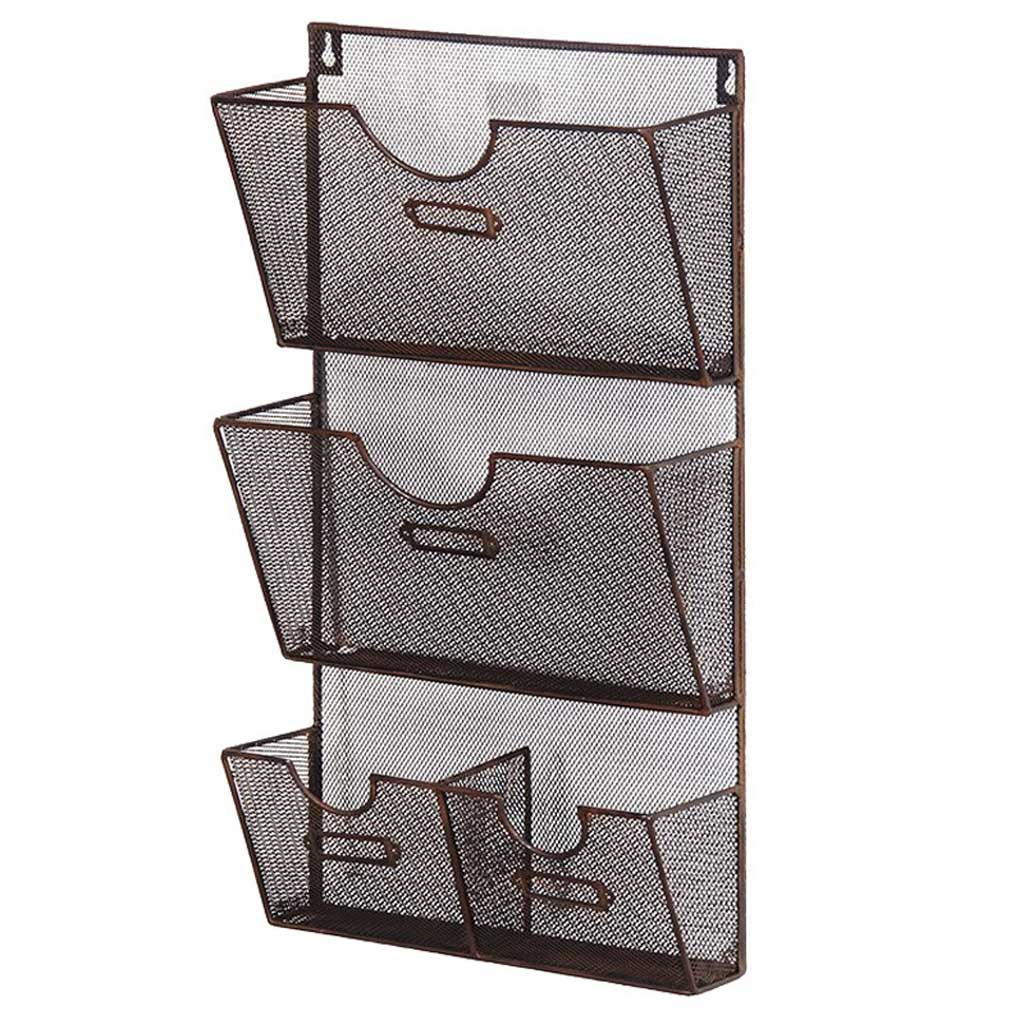 Small aged wall pocket rack