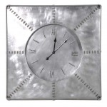 Square aluminium wall clock