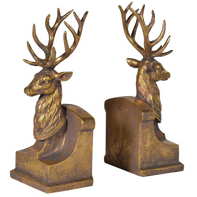 Stag animal bookends