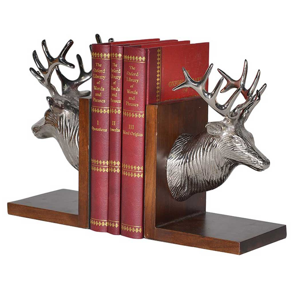 Stag head bookends