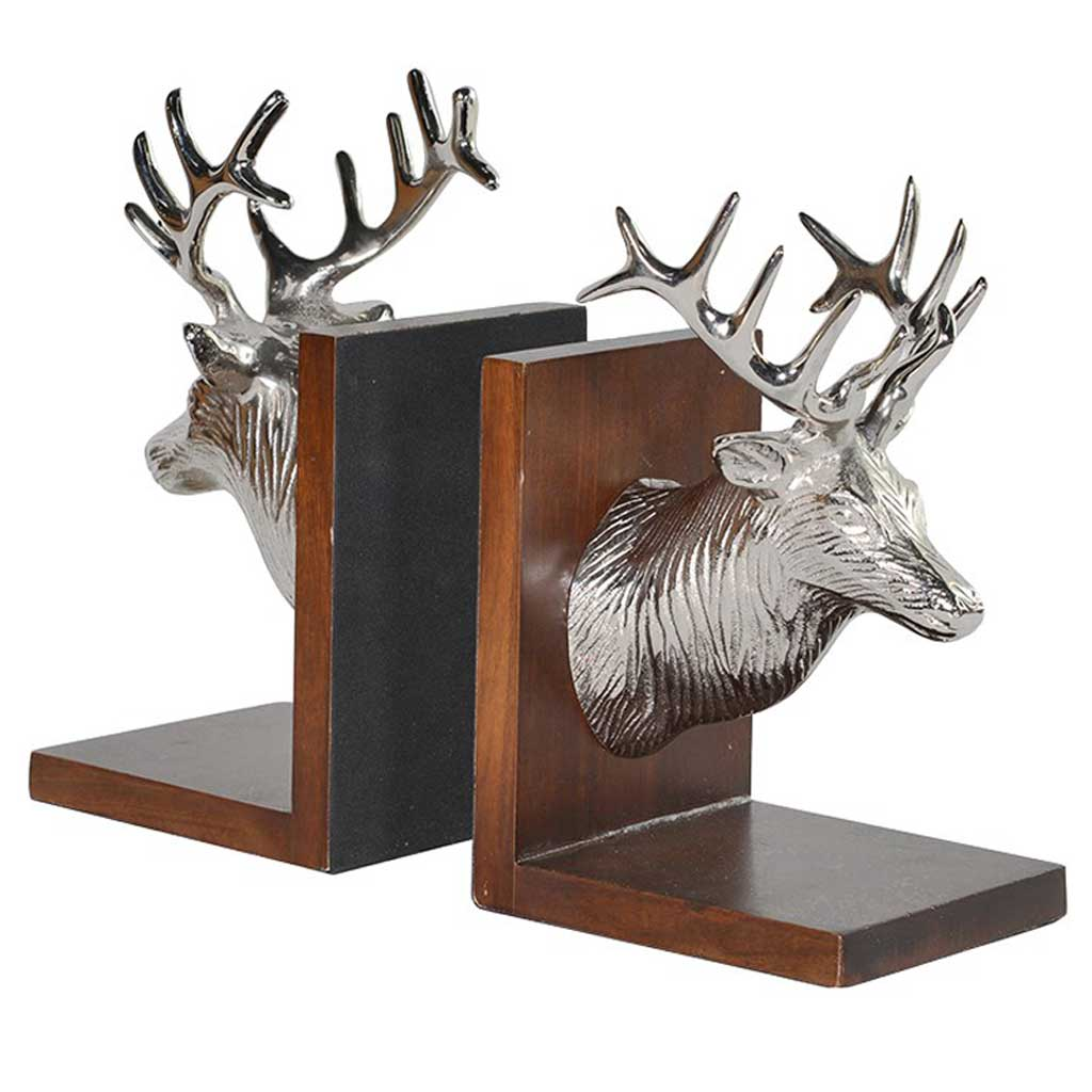 Stags head bookends