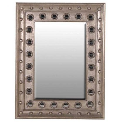 Studded decorative mirror