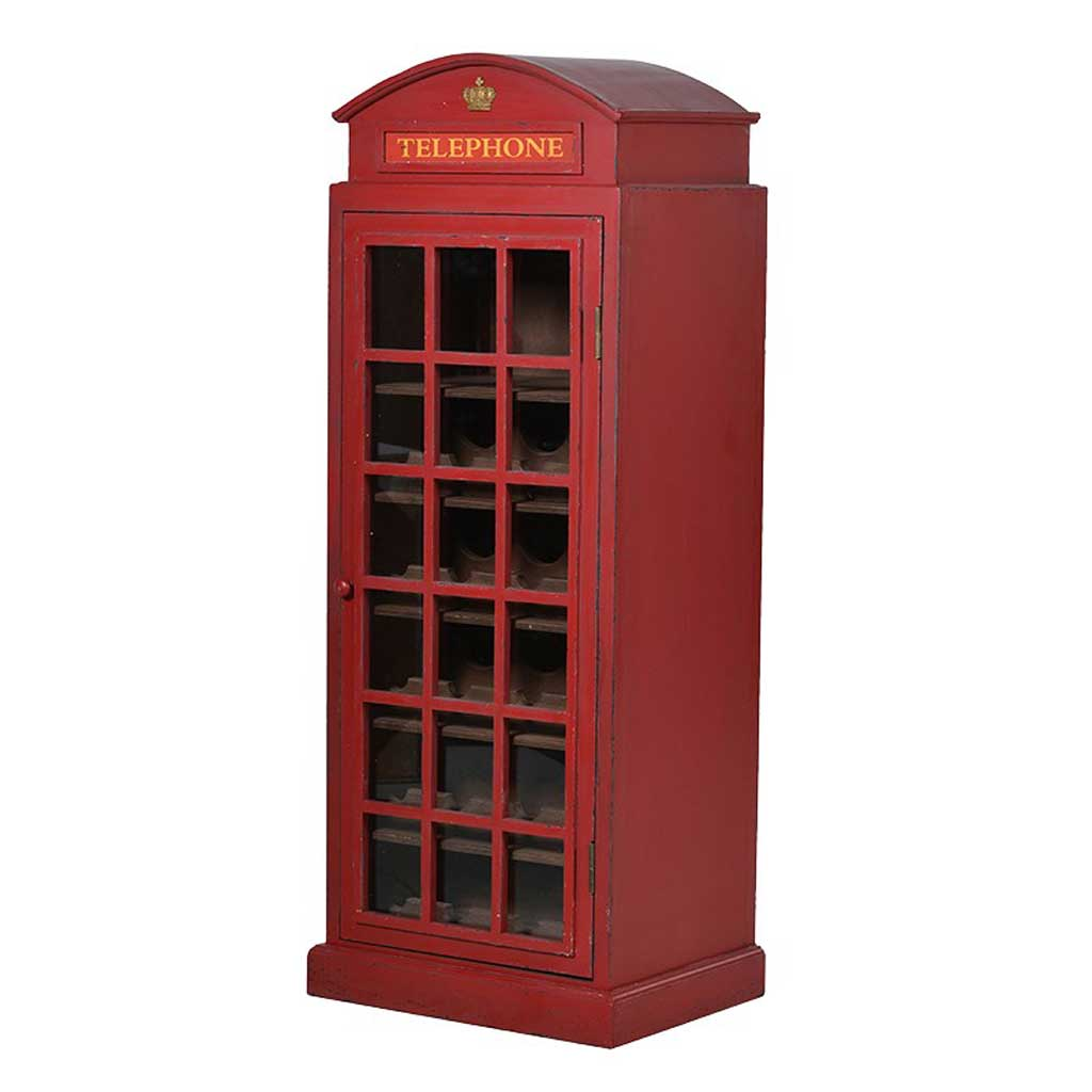 Telephone box wine cabinet