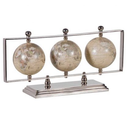 Triple globes on stand