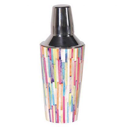 Colourful cocktail shaker