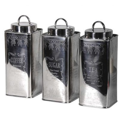 Sugar coffee & tea canisters