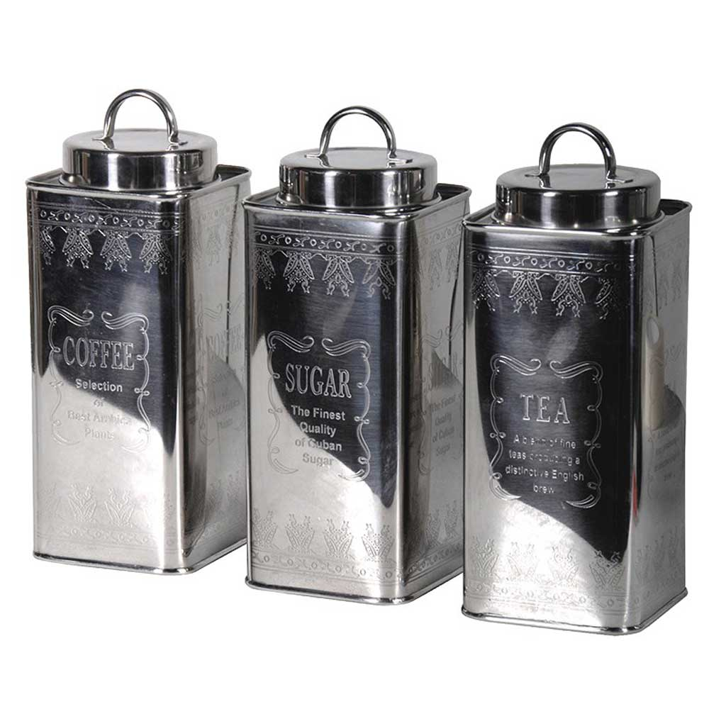 Sugar coffee tea canisters hydes furniture interiors - Coffee tea and sugar canisters ...