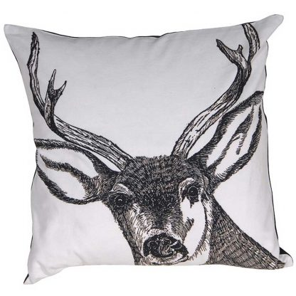 White stag cushion