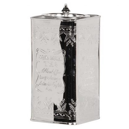 Antiqued tea caddy