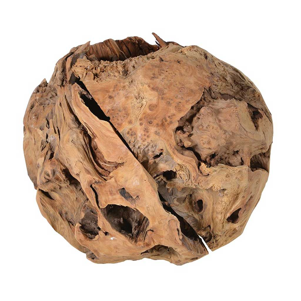 Medium decorative wooden ball