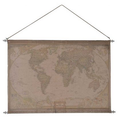 Hanging world map wall art
