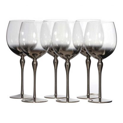 set 6 Silver plated wine glasses