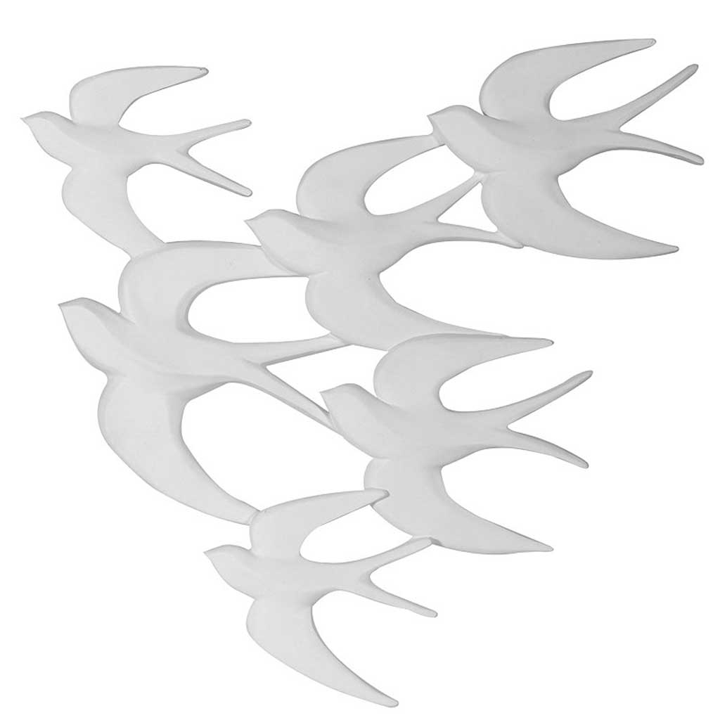 Swallows formation wall art
