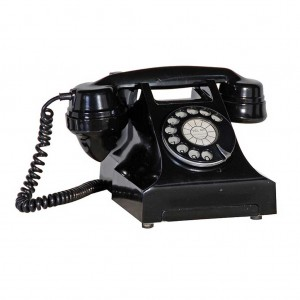Decorative black telephone