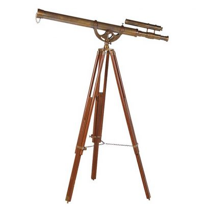 Brass decorative telescope