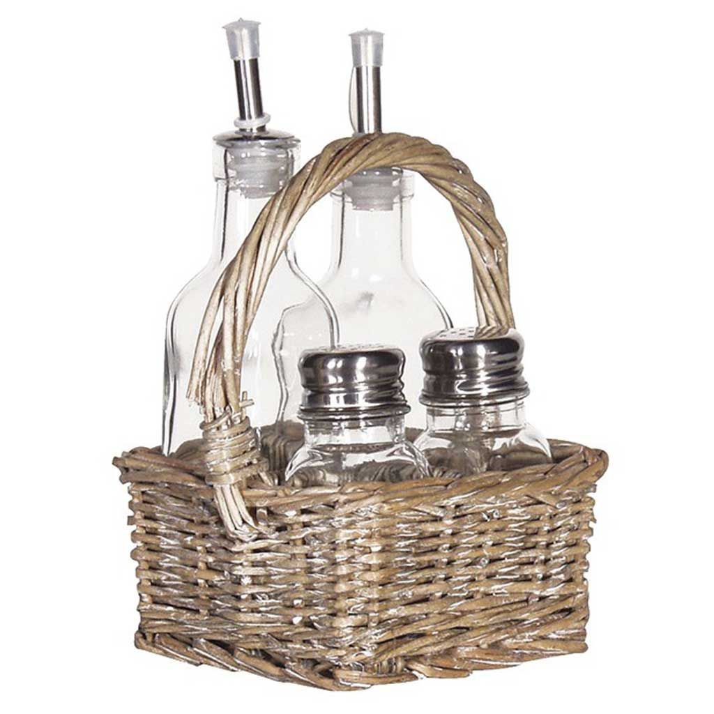 Condiment basket set