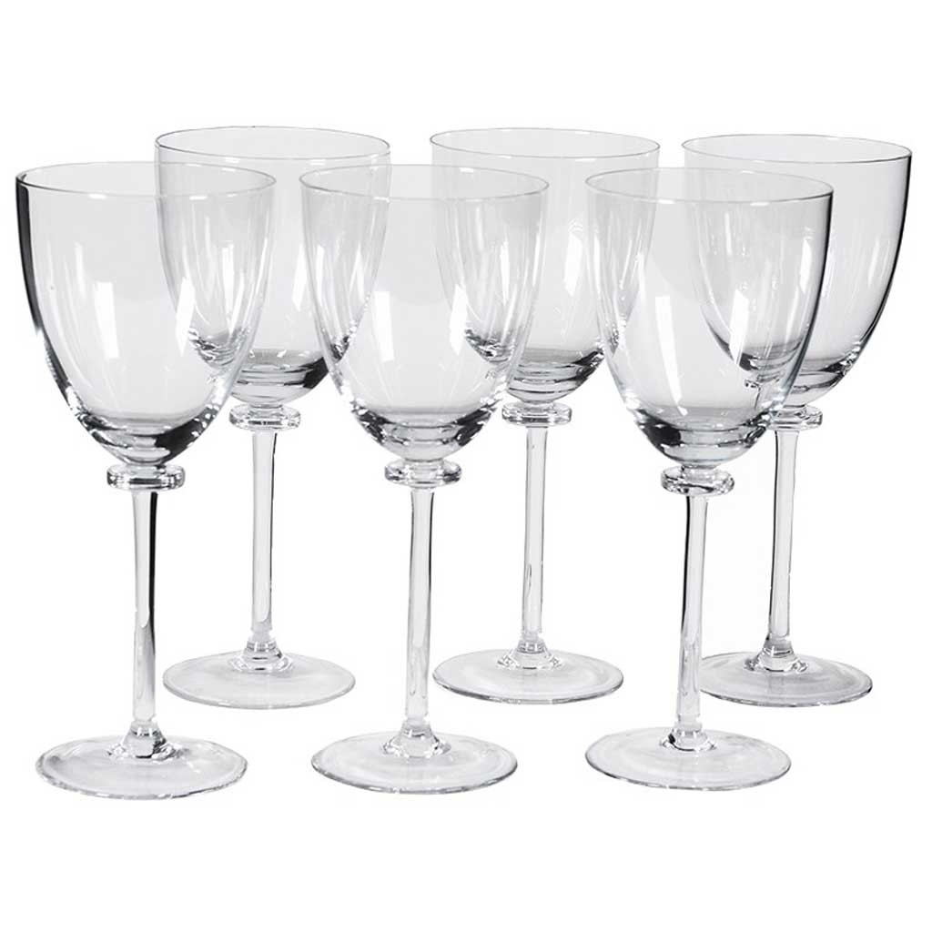 Set 6 wine glasses