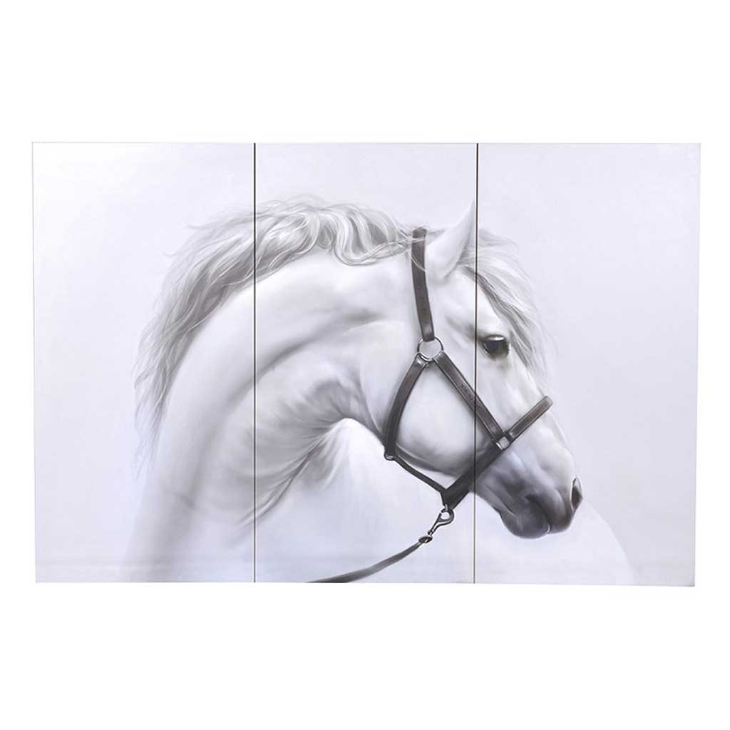 White horse picture wall art