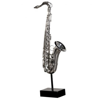 Decorative saxophone on stand