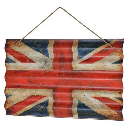 Corrugated Union Jack flag wall art