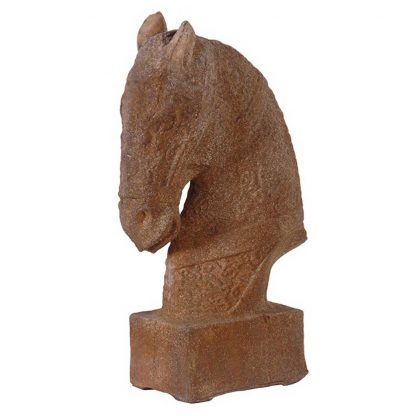 Stone effect horse head