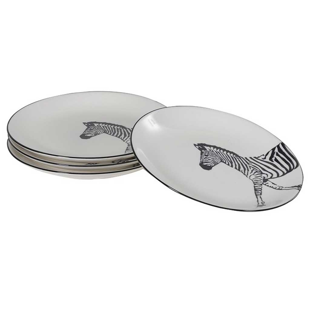 Set of zebra side plates