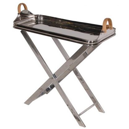 Stainless steel tray on stand