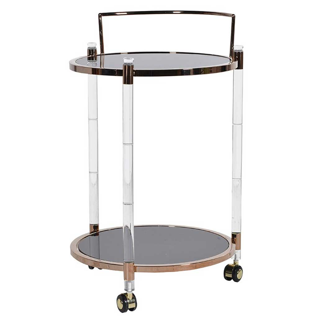Modern round drinks trolley
