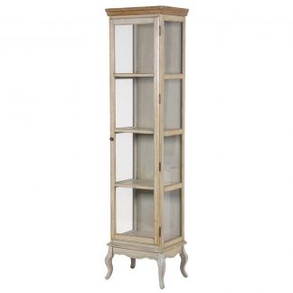 Slim glass cabinet