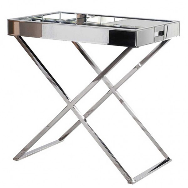 Mirrored Tray Table
