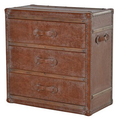 Leather 3 drawer chest