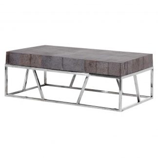 Leather x frame coffee table handmade kitchens in for Coffee tables norwich