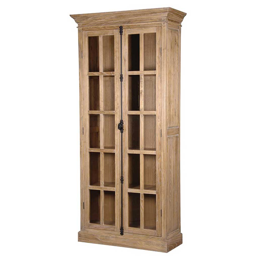 Tall slim Elm bookcase