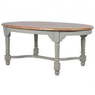 Limed oak oval table